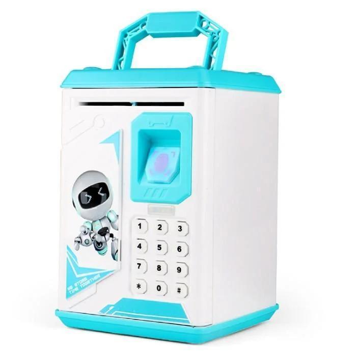 Детская копилка-сейф с кодовыми замком и  отпечатком пальца