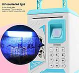 Детская копилка-сейф с кодовыми замком и  отпечатком пальца, фото 2