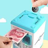 Детская копилка-сейф с кодовыми замком и  отпечатком пальца, фото 5
