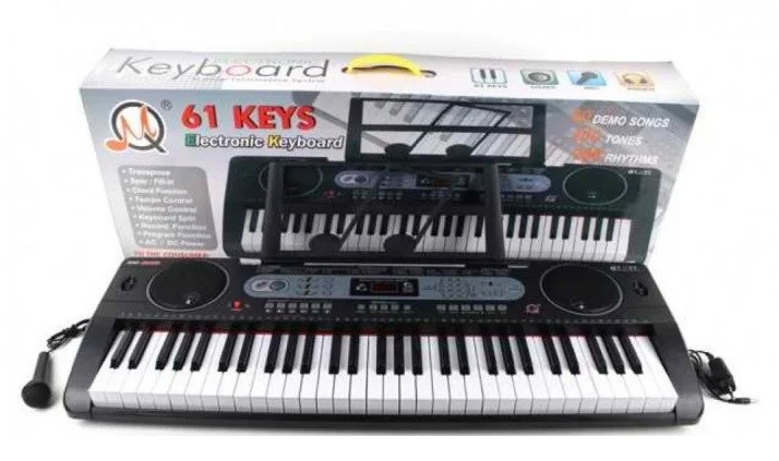 Орган MQ6130 (1613142) USB, від мережі, 61 клавіша,з мікрофоном,подст. для нот, в кор.94*14,5*34,5 см