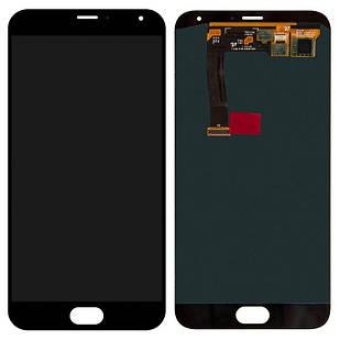 Дисплей для Meizu MX5, MX5e, чорний, із сенсорним екраном, Original