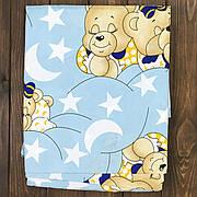"""Дитяче Змінне Постільна Білизна в Ліжечко для Новонароджених """"Ведмедики сплять, блакитні"""""""