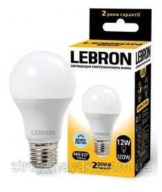 Светодиодная LED лампа LEBRON L-A60, 12W, Е27 дневной свет