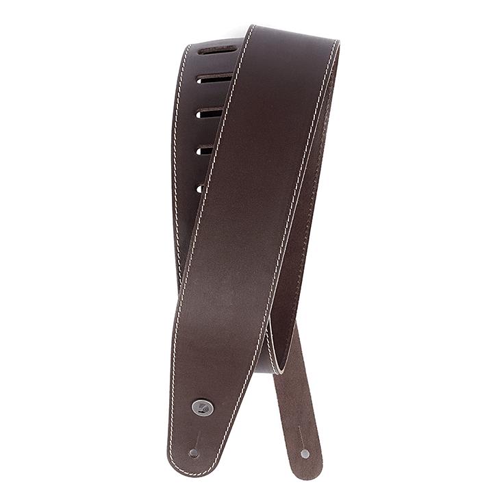 Ремень для  электрогитары D'ADDARIO 25LS01-DX Deluxe Leather Guitar Strap (Brown with Contrast Stitch)