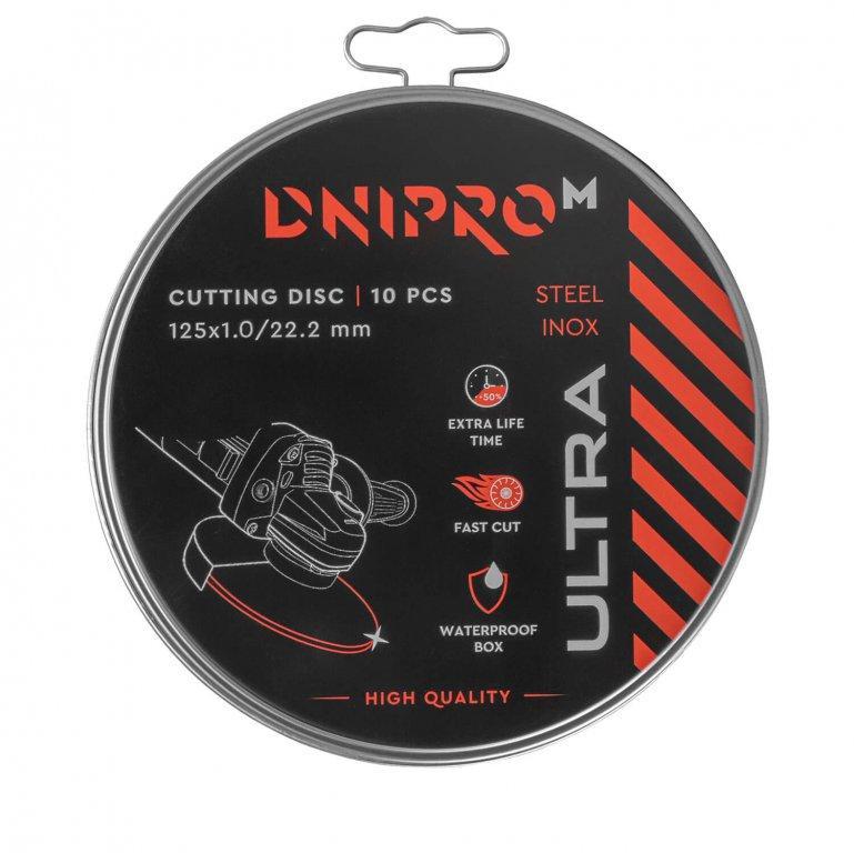 Диск отрезной Dnipro-M ULTRA 125 мм 1,0 мм 22,2 мм 10 шт/уп