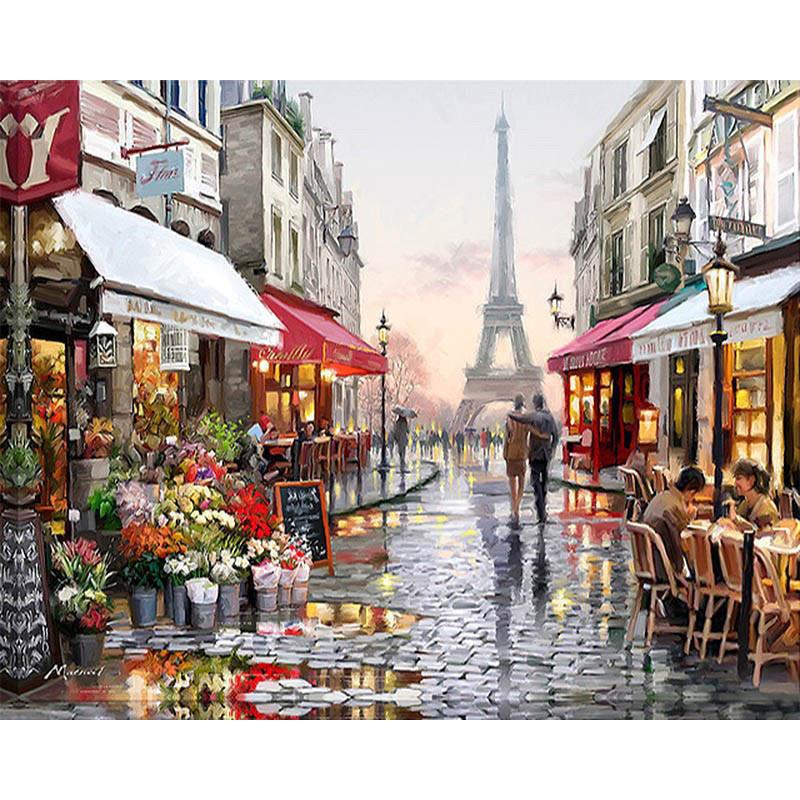 """Картина по номерам 40*50 см """"Романтика Парижа"""""""