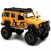 Машинка игрушечная автопром «Mercedes-Benz G63 AMG 4x4» (джип) металл, 20 см, желтый (свет, звук, двери, фото 6
