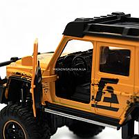 Машинка игрушечная автопром «Mercedes-Benz G63 AMG 4x4» (джип) металл, 20 см, желтый (свет, звук, двери, фото 10