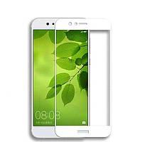 Защитное стекло 2.5D Full Screen на Huawei Nova 2 цвет Белый