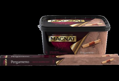 Декоративная клеевая краска Magnat Style Pergameno структура мятого бумаги 3 л