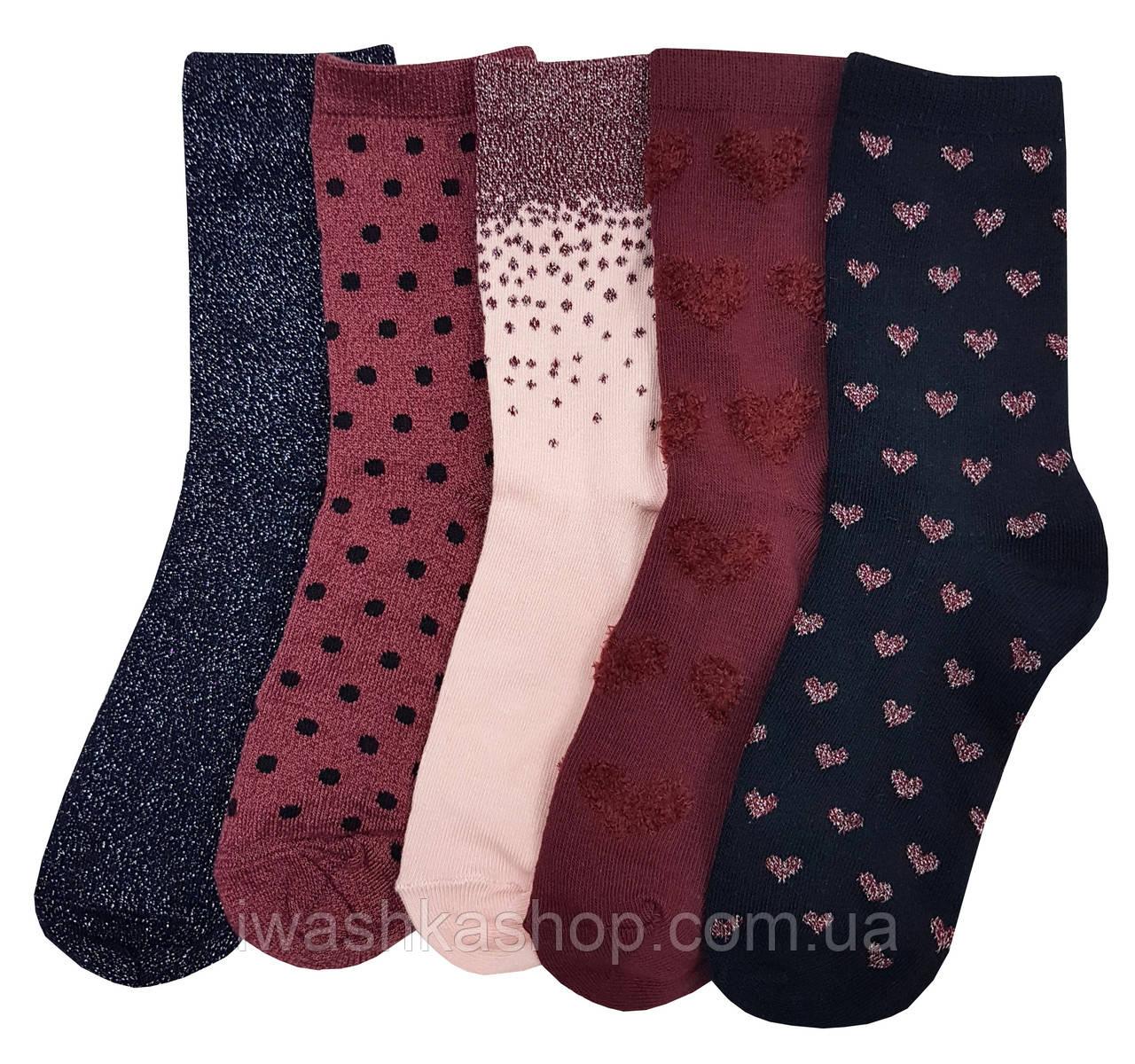 Стильные носки с люрексом на девочек от 11 лет, р. 37 - 38.5, Primark