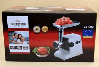 Мясорубка Meat Grinder CB 4212 Crownberg(3075)с соковыжималкой