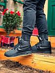 Чоловічі кросівки Nike LF1 Duckboot (чорно-коричневі) ЗИМА KS 1601, фото 2