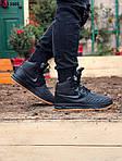 Чоловічі кросівки Nike LF1 Duckboot (чорно-коричневі) ЗИМА KS 1601, фото 5