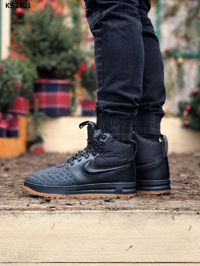 Чоловічі кросівки Nike LF1 Duckboot (чорно-коричневі) ЗИМА KS 1601