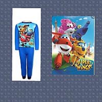 Пижама трикотажная, комплект домашний super wings 3-4 года