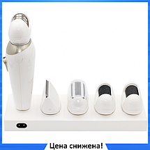 Эпилятор Gemei GM-7005 5в1 - Профеcсиональный женский беспроводной эпилятор бритва с насадками, аккумуляторный, фото 3