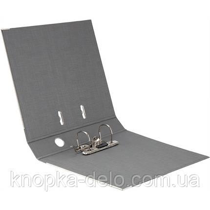 Папка-реєстратор Axent Prestige+ 1721-34P-A, A4, з двостороннім покриттям, корінець 5 см, срібляста, фото 2