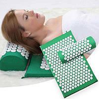 Массажный коврик акупунктурный с подушкой для спины, Ортопедический массажный коврик Кузнецова