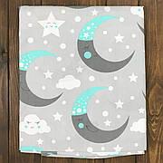 """Дитяче Змінне Постільна Білизна в Ліжечко для Новонароджених """"Місяць, сірий"""""""