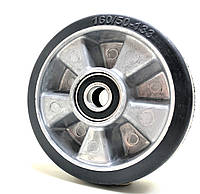 Рулевое колесо 160x50 алюминий/эластичная резина, ступица 50 мм 160/50-133, фото 1