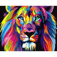 """Картина по номерам 40*50 см """"Радужный лев"""", фото 1"""