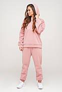 Розовый теплый костюм свитшот и штаны, фото 2