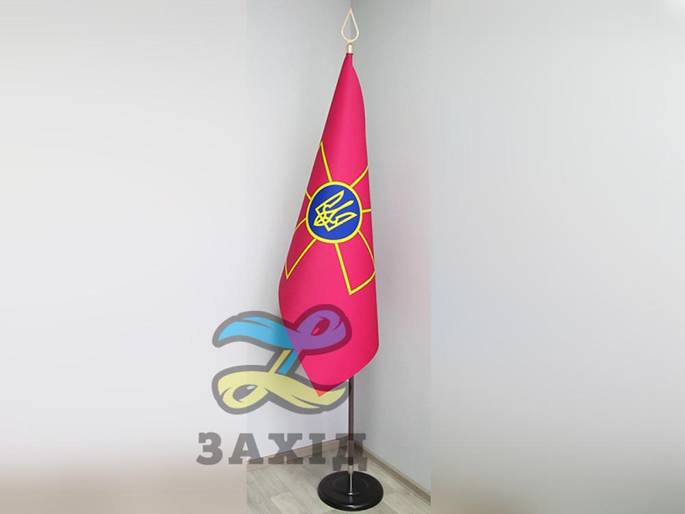 Флаг в кабинет из прокатного атласа (купольный)