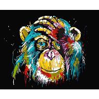 """Картина за номерами 40*50 см без підрамника """"Райдужна мавпа"""""""