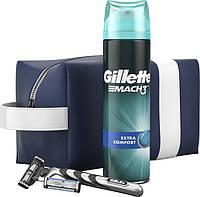 Подарочный набор Gillette Mach3 (бритва с 2 кассетами Mach 3+гель для бритья 200 мл+сумка-органайзер)