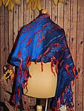 Шарф-палантин шерстяной ручного валяния, фото 3