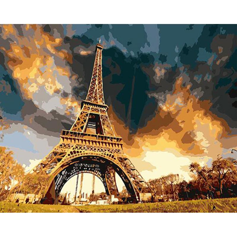 "Картина по номерам 40*50 см "" Эйфелева башня"""