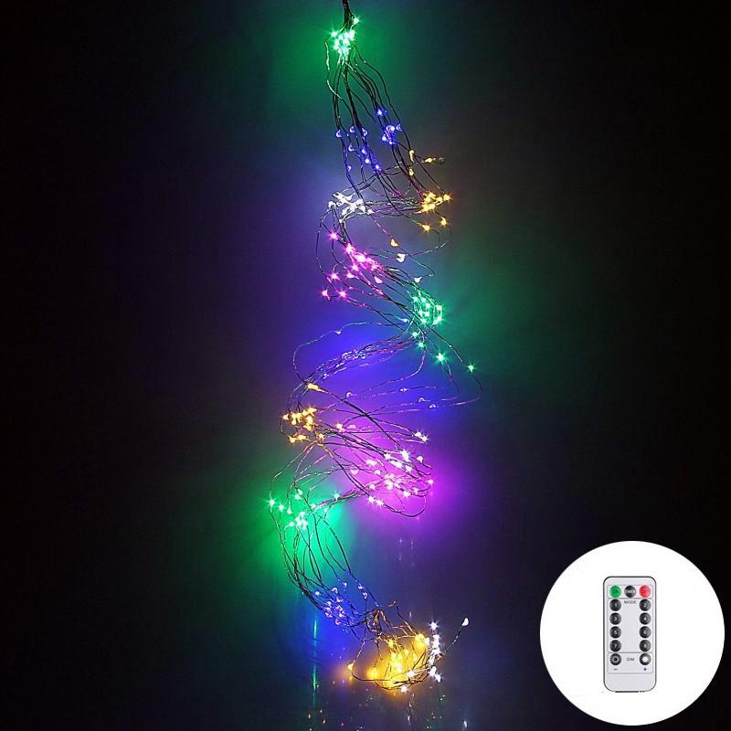 Гирлянда конский хвост 30 нитей 600 led с пультом от сети (разноцветный)