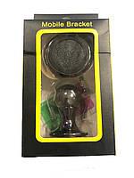Автодержатель для телефона магнитный 360 (град.) А2 на скотче Графит (3289)