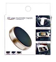 Автодержатель для телефона магнитный A8 таблетка Black