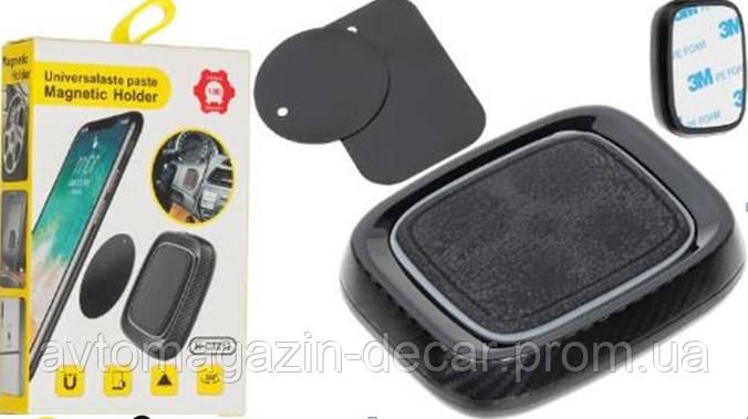 Автодержатель для телефона магнитный CT212 Black таблетка