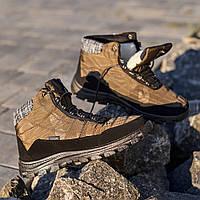 Ботинки мужские хаки (Осень-Зима) на шнуровке / Мужские зимние ботинки
