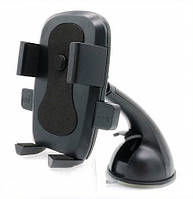 Автодержатель для телефона S127 на присоске жесткая ножка Black-Blue (55mm-85mm)