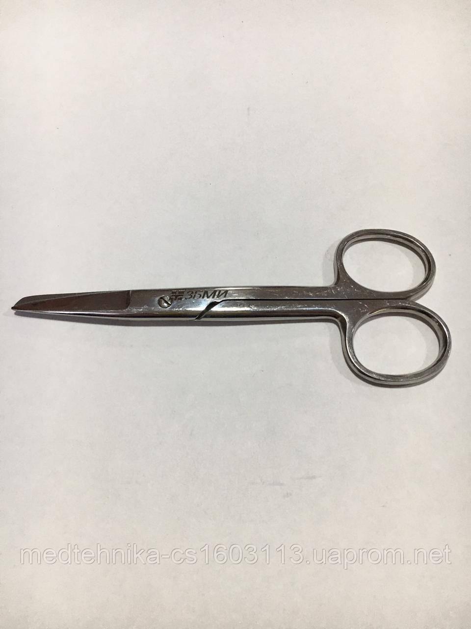 Ножницы хирургические с одним острым концом прямые для детей 125мм