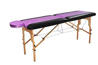 Массажный стол-кушетка, Ukrestet, фиолетовый, 002, складной