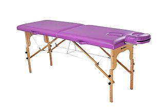 Массажный стол-кушетка, Ukrestet, фиолетовый, 001, складной