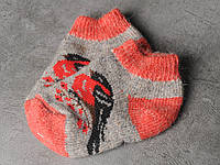 Шерстяные носки детские 'Снигери', зимние детские носочки, 16-19 см, фото 1