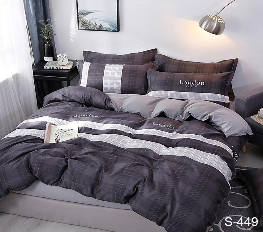 Полуторный комплект постельного белья из хлопка Полуторний комплект постільної білизни 1.5-спальный S449