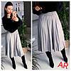 Женская плиссированная замшевая юбка, 2 цвета. АР-3-1220, фото 2