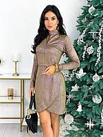 Женское нарядное платье с 42 по 48 рр трикотаж рюлекс