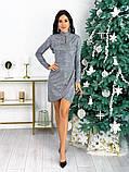 Женское нарядное платье с 42 по 48 рр трикотаж рюлекс, фото 4