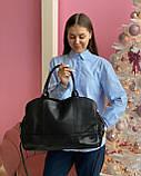 Женская кожаная сумка magicbag большая черная, фото 2