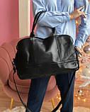 Женская кожаная сумка magicbag большая черная, фото 4