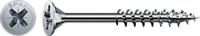 Саморез SPAX с покр. WIROX 5,0х70, частичная резьба, потай, PZ2, 4CUT, упак. 100 шт., пр-во Германия