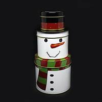 Набор банок для хранения Снеговики Olens 6945-42 дизайн Санта Клаус